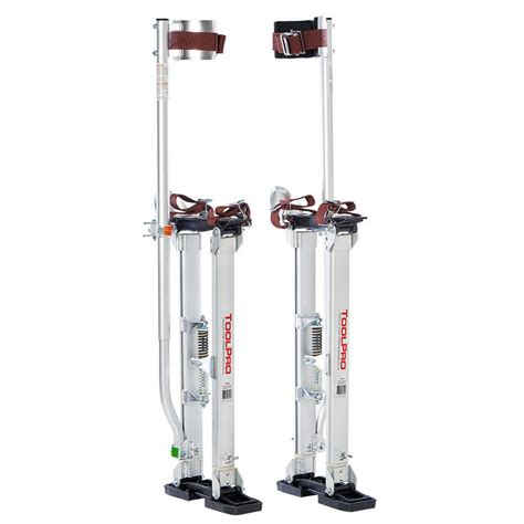 toolpro 24 in to 40 in aluminum drywall stilts tp72440