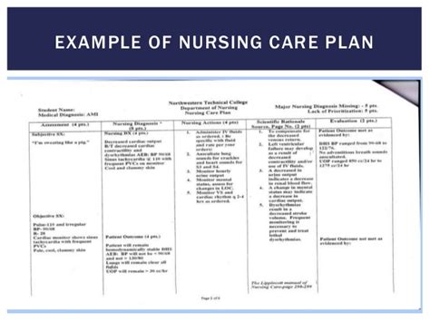 formulation of care plan