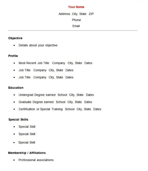 Basic Resume by Basic Resume Template Best Professional Resumes Letters