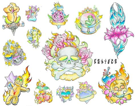 tattoo flash art sheets tattoo flash sheet1 by colladodesigns on deviantart