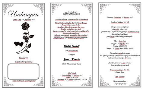 template undangan nikah photoshop home design creatif download undangan tasyakuran nikah