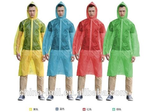 Jas Hujan Sekali Pakai Emergency jas hujan sekali pakai dengan lengan pe hujan ponco jas hujan berwarna buy product on alibaba