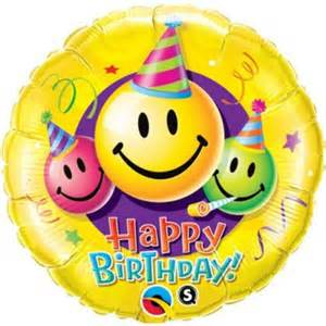 Enfant gt ballon alu xxl anniversaire happy birthday smiley