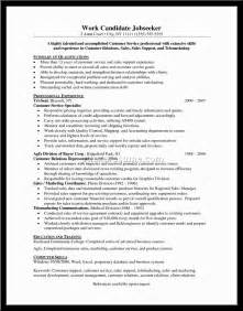 Resume Template For Customer Service Representative by Free Resume Templates For Customer Service Representative