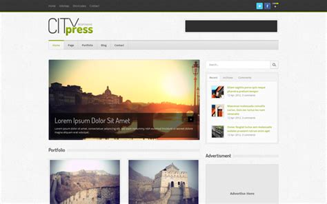 blogger bootstrap template citypress bootstrap responsive blog template download