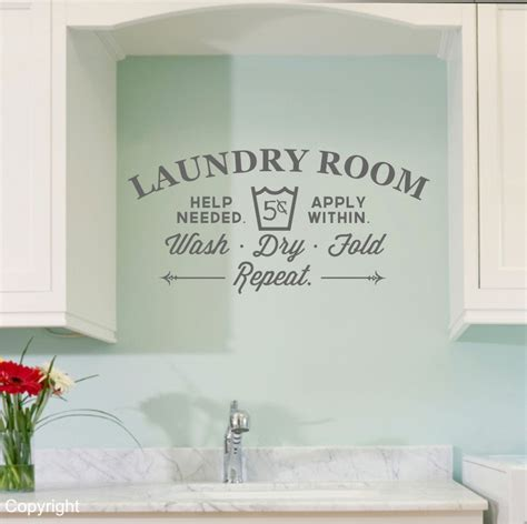 Laundry Wall Stickers Laundry Room Vinyl Wall Decal Sticker Large