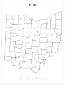 Ohio County Maps by Ohio Blank Map