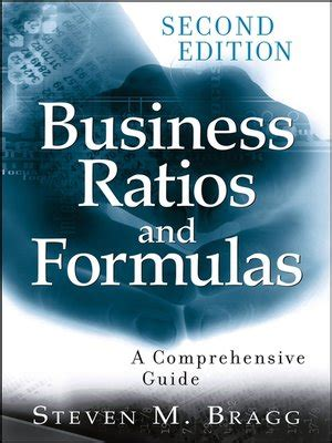 Steven Bragg Mba Pdf by Business Ratios And Formulas By Steven M Bragg