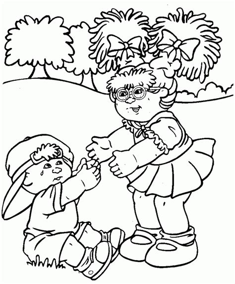 Cabbage Patch Kids Coloring Pages Coloring Home Cabbage Patch Coloring Pages