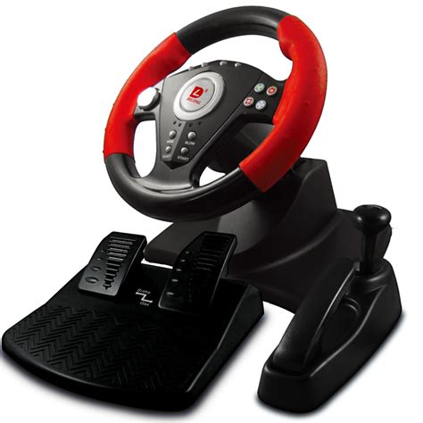 Steering Wheel To Brake Pedal pc hardware racing steering wheels pedals with brake gear suction vibration in