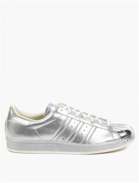 metallic sneakers adidas originals silver superstar 80s metallic pack