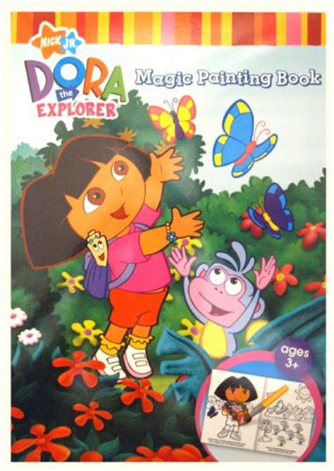 painting on nick jr nick jr the explorer magic painting book