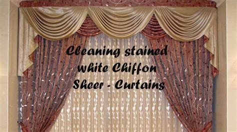 how to wash sheer curtains cleaning stained white chiffon sheer curtains linens n