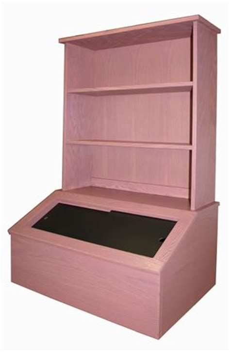 wooden box with bookshelf oak baby