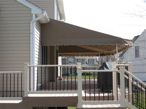 residential awning deck canopy roof mount downingtown kreider s canvas