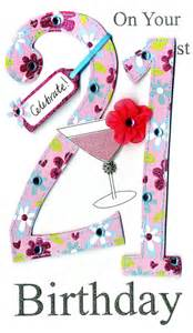 gorgeous 21st age 21 birthday greeting card cards