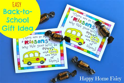 teacher presents to grade 1 students easy back to school gift idea free printable happy home