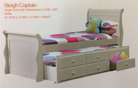 Single Bed With Trundle And Drawers by Trundle Slay Bed Single White With Drawers New