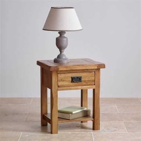 Pictures Of Painted Dining Room Tables Original Rustic Lamp Table In Solid Oak Oak Furniture Land