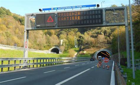 autostrada dei fiori traffico i cantieri della settimana sull autostrada dei fiori