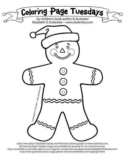 santa hat gingerbread man coloring page christmas