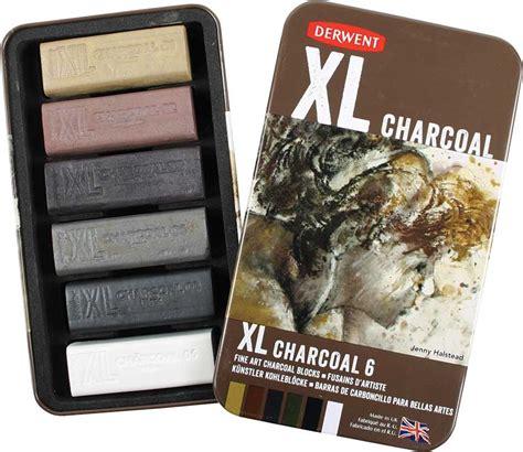 Derwent Xl Charcoal Set 6 Pcs Berkualitas derwent charcoal xl set met 6 kleuren 2302009