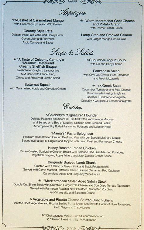 south america infinity menus