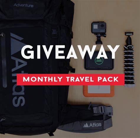 Travel Contests And Giveaways - travel pack giveaway 171 blogging contests and giveaways