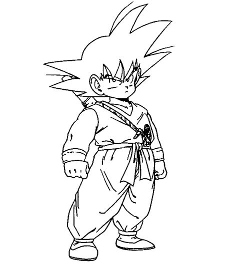 coloriage dragon ball gog 233 ta az coloriage