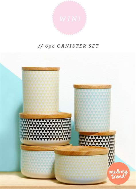 Kitchen Canister Win 6 Piece Kitchen Canister Set From Me Amp My Trend Open