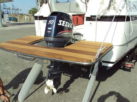 boat swim platform swim platform on outboard how the hull truth