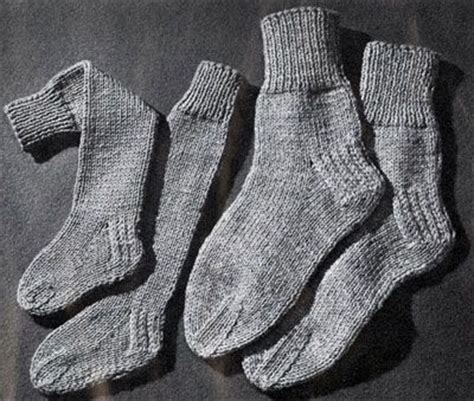 knitted slippers pattern with two needles knitted 2 needle socks pattern