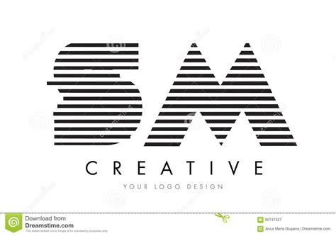 logo black and white stripes sm s m zebra letter logo design with black and white stripes stock vector illustration 90747427
