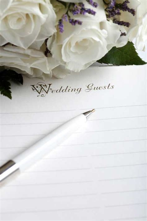 Wedding Invitation Guest List by Wedding Guest Lists Choosing The Right Guests Articles