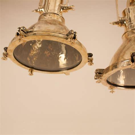 pair  mid  century brass maritime  industrial