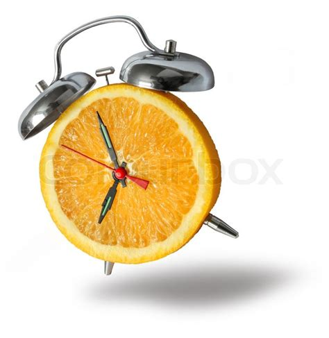 Bouncing Fruit by Fresh Orange Fruit Alarm Clock Bouncing And Ringing On