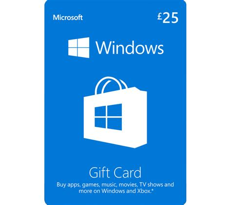 Buy Microsoft Gift Card Online - buy microsoft windows gift card 163 25 free delivery currys