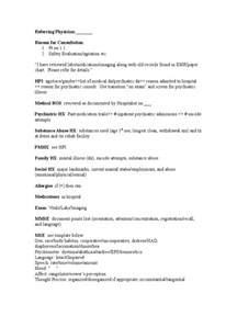 consult note template initial consult note template docshare tips