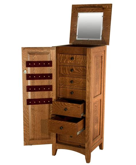 jewelry boxes and armoires flush mission jewelry armoire with lockable door