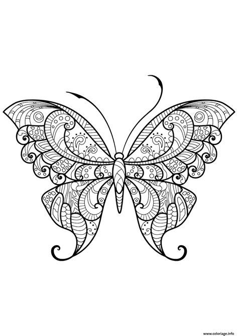Coloriage Papillon Adulte Jolis Motifs 12 dessin