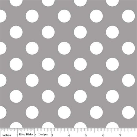 polka dot pattern pink grey 1 yard riley blake medium dots grey white polka dots 1