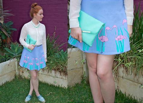 megan house of cards megan doyle house of cards flamingo skirt house of harlow jade necklac asos blue
