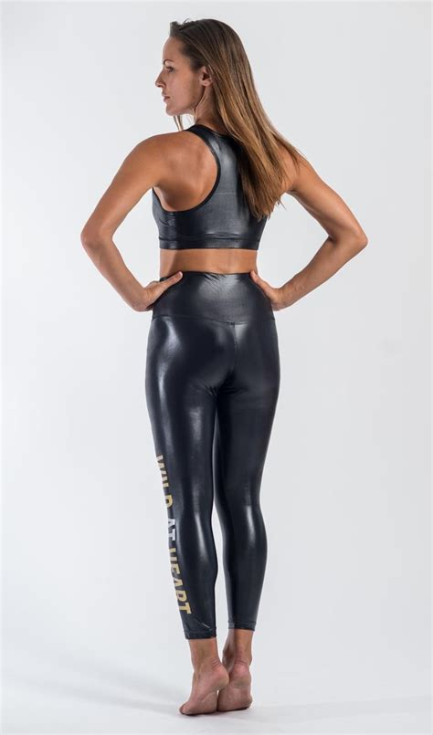Glossy Legging gloss quot at quot print stylish and sleek