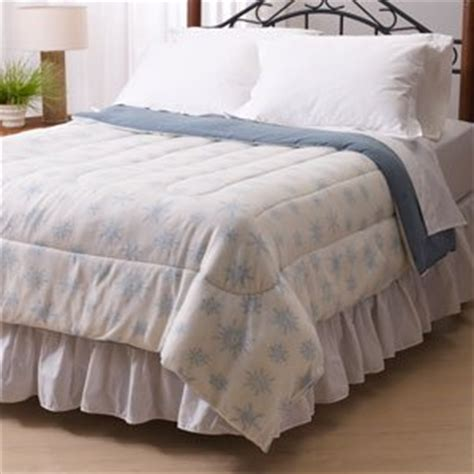 Microfleece Comforter by Cooper Micro Fleece Blue Snowflake