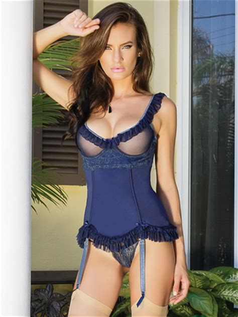 Cq Bra Selections by Bustier Gartered Sheer
