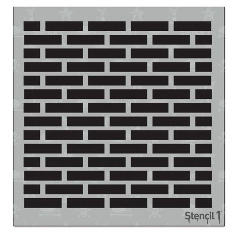 repeat pattern wall stencil stencil1 bricks small repeat pattern stencil s1 8p 12 s1