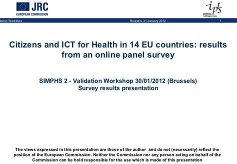 Panel Survey - citizens and ict for health in 14 eu countries results