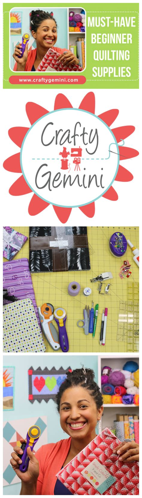 Beginning Quilting Supplies by Must Quilting Supplies For Beginners Crafty Gemini