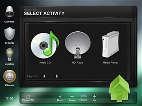 crestron templates crestron gui touch panel templates