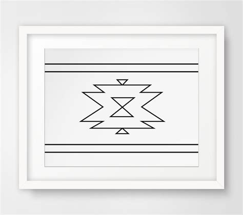aztec home decor navajo print aztec home decor native by melindawooddesigns